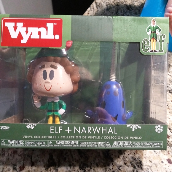 Funko vynl buddy the elf and narwhal friend